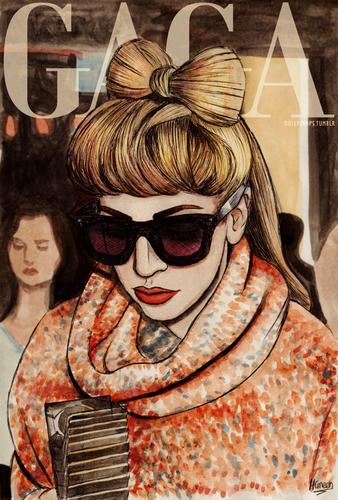 Gaga sa pamamagitan ng Helen Green (dollychops.tumblr.com)