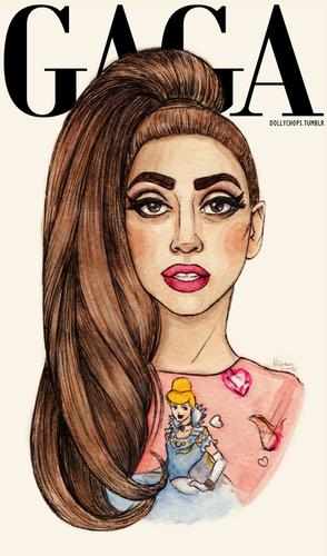 Gaga kwa Helen Green (dollychops.tumblr.com)