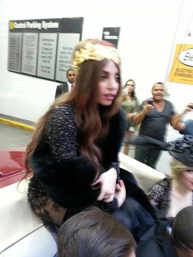 Gaga on her way to Guggenheim Museum
