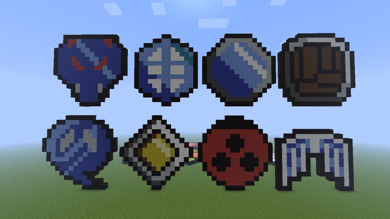 Minecraft pixel art gym badges 2