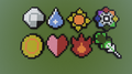 Gym Badges - minecraft-pixel-art fan art