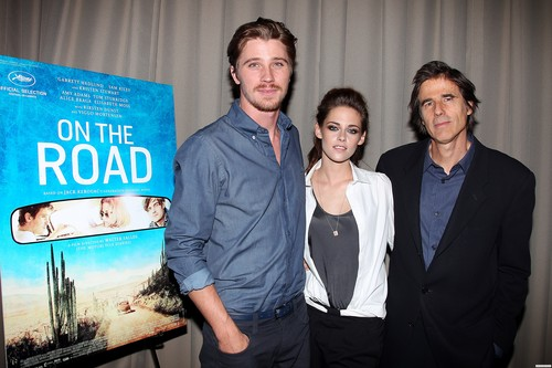 """HQ: Kristen attends a screening for """"On the Road"""" in New York {10/09/12}."""