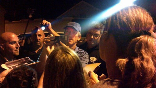 Hugh Laurie signing autographs after the concert in Red Bank, NJ on Sept. 7, 2012