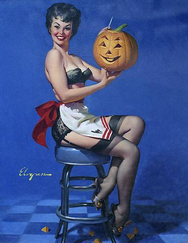 pin up girl wallpaper titled halloween Pin Up Girls