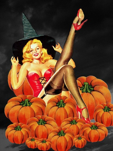 pin up girl wallpaper entitled halloween Pin Up Girls