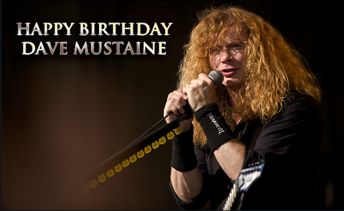 Megadeth wallpaper with a concert called Happy Birthday Dave Mustaine!