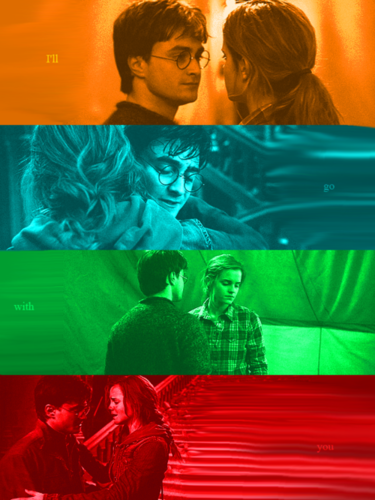 Harry and Hermione wallpaper possibly with a sign entitled Harmony ♥