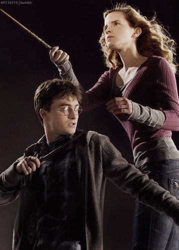 Harry and Hermione wallpaper probably containing a concert titled Harry & Hermione