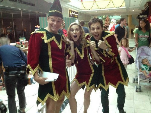 Hilarie Burton On Set Of Naughty or Nice