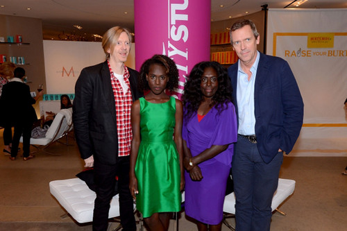 Hugh Laurie and Director Andrew Adamson, Joel Healeville, Xzannjah Matsi the Variety Studio 6