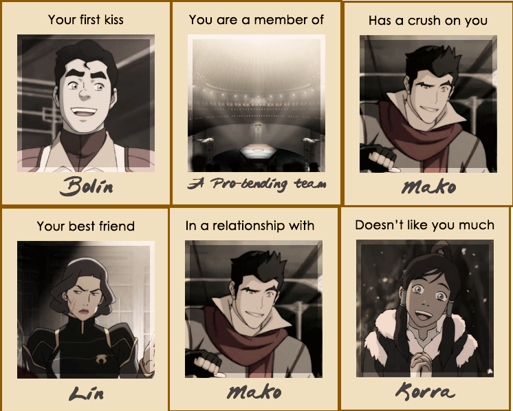 Avatar the legend of korra i was just pretty lucky i guess d