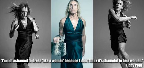 Feminism wallpaper probably with a dinner dress called Iggy Pop