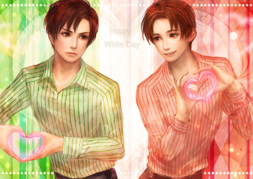 Hetalia پیپر وال with a portrait called Italy and Romano