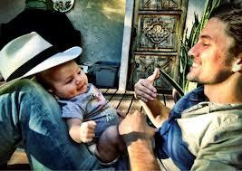 Jackson Rathbone and his son