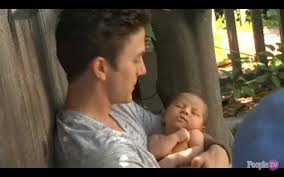 Jackson Rathbone and his son