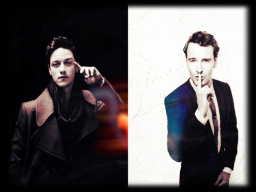 James McAvoy and Michael Fassbender wallpaper possibly containing a business suit called James & Michael ★
