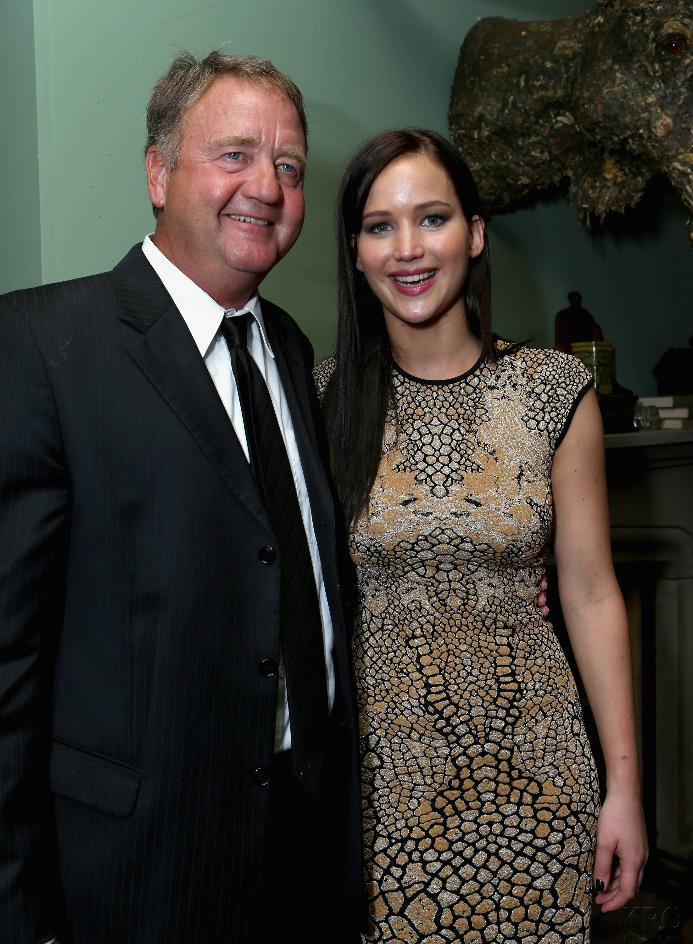 Photo of Jennifer Lawrence & his  Father  Gary Lawrence