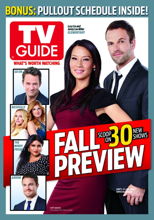 Jonny Lee Miller & Lucy Liu TV Guide Magazine Fall منظر پیش