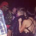 Justin and Selena at as club