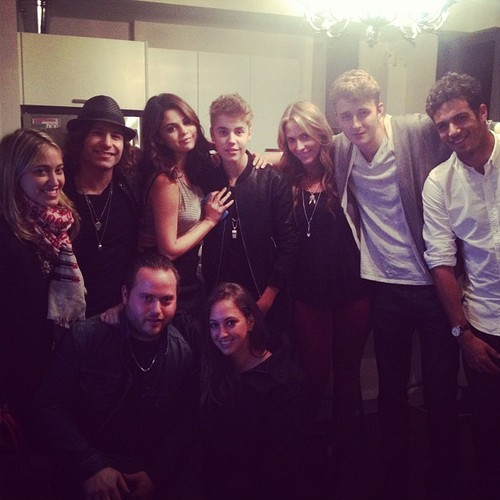 Justin and Selena yesterday in Toronto.
