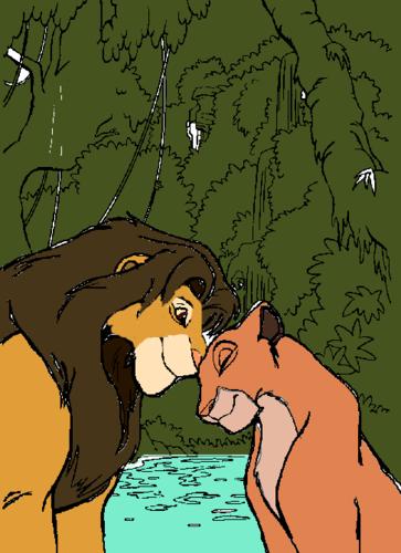 Kopa and sư tử cái, lioness