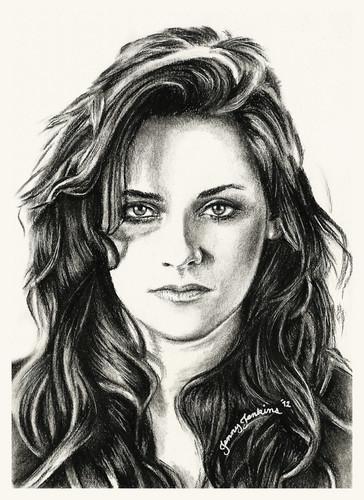 Kristen Stewart drawing da Jenny Jenkins