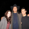 Kristen on Eclipse set w/Taylor and Gil - twilight-series photo