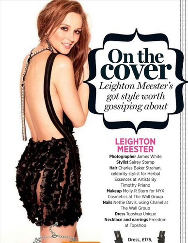 LEIGHTON MEESTER on the Cover of COSMOPOLITAN UK OCTOBER 2012 - leighton-meester Photo
