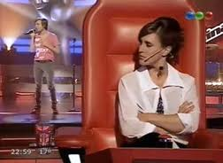 The Voice wallpaper probably containing a drawing room, a brasserie, and a parlor titled La voz argentina