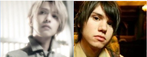 Laruku's Hyde (left) and P!ATD's Ryan Ross (right)