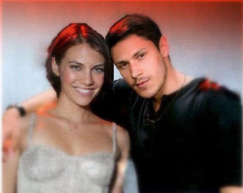 Lauren Cohan and Alex Meraz