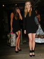 Lea Michele Leaves Eveleigh Restaurant, Los Angeles, August 28, 2012