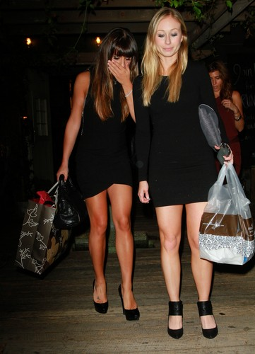 Lea Michele Leaves Eveleigh Restaurant, Los Angeles, August 28, 2012