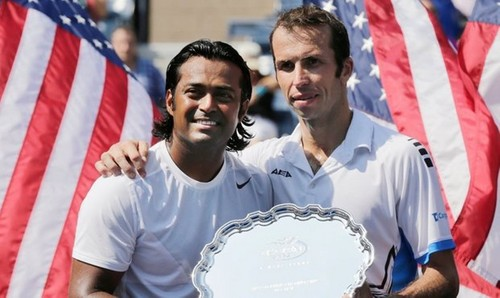 Leander Paes and Radek Stepanek US Open 2012 - tennis Photo