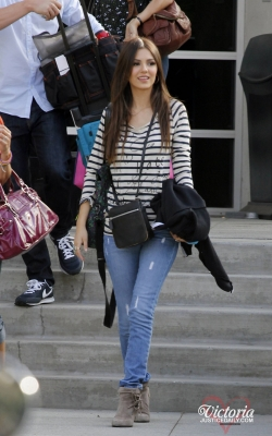 "Leaving the ""Chelsea Lately"" Studio in Los Angeles"