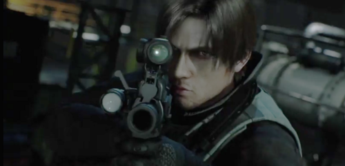 Leon Kennedy 바탕화면 probably with a 라이플 총병, 라이플 맨, 라이플 총 병 called Leon - RE Damnation movie