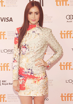 Lily Collins at TIFF 2012