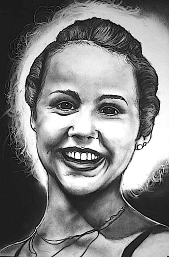 The Linda Blair Pretty Corner kertas dinding probably with a portrait called Linda Blair