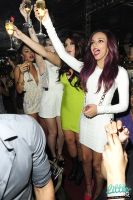 Little Mix celebrating at The Rose Club in london - 4th September 2012.