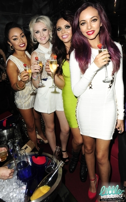 Little Mix celebrating at The Rose Club in Londres - 4th September 2012.