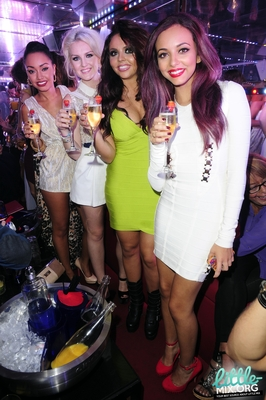 Little Mix celebrating at The Rose Club in 런던 - 4th September 2012.
