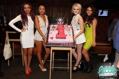 Little Mix celebrating at The Rose Club in ロンドン - 4th September 2012.