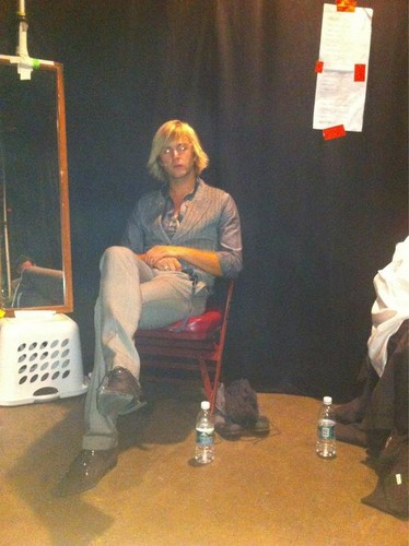 Lonely man backstage