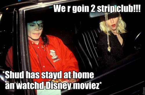 MICHAEL AND Madonna ON DISASTER DATE???