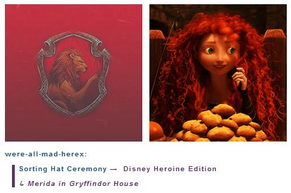 Merida is in Gryffindor House