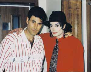 Michael And Good Friend, Uri Gellar