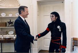 Michael And President George struik, bush At The White House Back In 1989