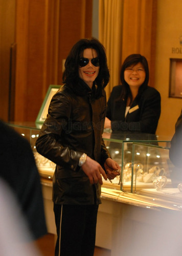 Michael Doing Some Shopping
