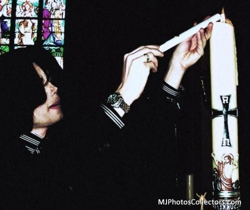 Michael Lighting A Candle