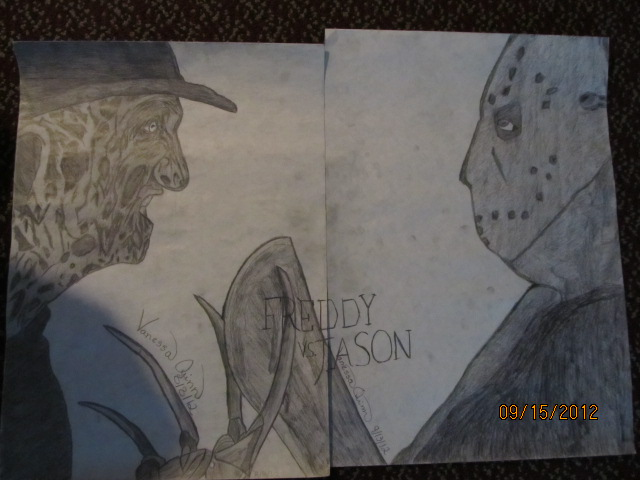 Freddy vs Jason Drawings Drawing my Freddy vs Jason